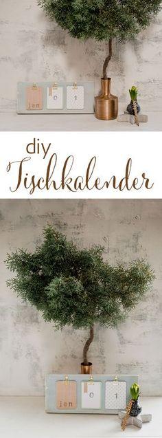 {DIY Tischkalender für's neue Jahr}