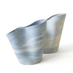 Fleet Objects: marbled vases