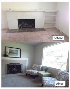 Refacing an old, ugly brick fireplace gives this room a whole new look on a whole new level. Simply go over the existing brick with a tile of your choice, grout and enjoy. Instead of spending big bucks on new doors, go for a classy fire screen instead. Real Estate in Boise, Idaho
