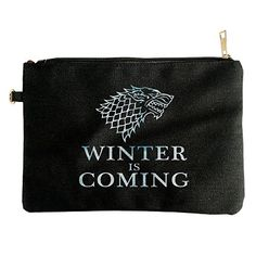 Game Of Thrones Stark Wolf Canvas Pouch Bag