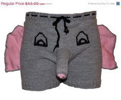 Christmas Gift, Elephant Boxers, Men shorts, Men underwear, Adult costume, Animal Pajamas, Ugly christmas sweater, Christmas present by warmpresents on Etsy https://www.etsy.com/listing/87421257/christmas-gift-elephant-boxers-men
