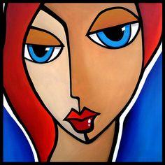 Mama Said  Original Abstract painting Modern pop Art by fidostudio