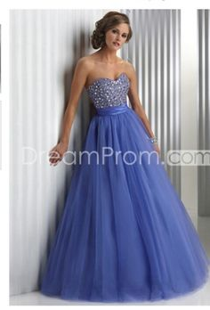 Perrywinkle and sparkly long prom dress