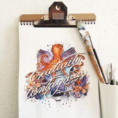 Beautiful Watercolor Paintings Paired With Uplifting Hand-Lettered Quotes | athenna-design | Web Design | Design de Comunicação Em Foz do Iguaçu | Web Marketing | Paraná