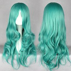 Sailor Moon Sailor Neptune Green 65 Cosplay Wigs – USD $ 29.99