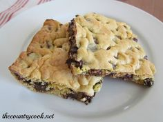 The Country Cook: Lazy Cookie Bars