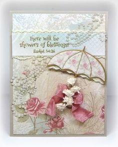 Stamps - Our Daily Bread Designs	Shower of Blessings, ODBD Shabby Rose Paper Collection, ODBD Custom Umbrellas Die