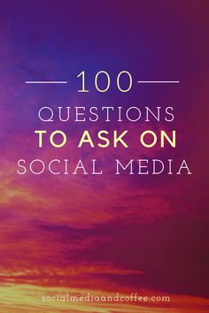 Do you need some conversation starters for your social media page? Here are 100 questions, guaranteed to make your audience talk! Social Media marketing | online business | blog | blogging | Facebook marketing | Instagram marketing | Twitter | entrepreneur | small business marketing | marketing ideas | social media tips | #onlinebusiness #socialmedia #Facebook #Instagram #Twitter #entrepreneur #smallbusiness #blog #blogging #marketing #blogger #socialmediatips