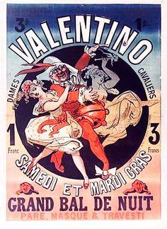 Bal Valentino. Jules Cheret (1869)