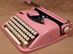 super awesome pink typewriter