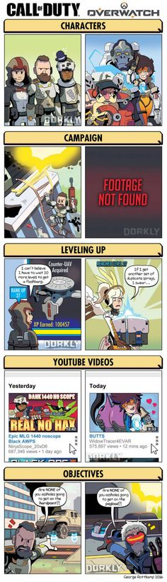 Call of Duty Vs. Overwatch