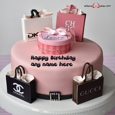 Write name on Generate Name on Happy Birthday Cake with Name And Wishes Images and create free Online And Wishes Images with name online. Birthday Wishes Cake, Happy Birthday Cakes, Cake Name, Wishes Images, Perfume Bottles, Place Card Holders, Names, Create, Perfume Bottle