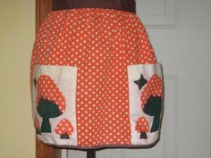 Mushroom Vintage Apron Retro Kitchen by CaitlandStudio on Etsy