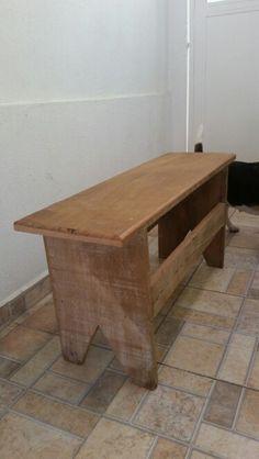 Banco madeira recuperada