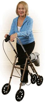 Drive Economy Knee Walkers | Crutches and wheelchairs are no longer the only option for healing injuries that require the foot to be non-weight bearing during recovery. Home Med-Equip therefor carries two different Drive® knee walkers; Drive® Economy and Drive® Steerable. You can either rent the knee walker or purchase it.