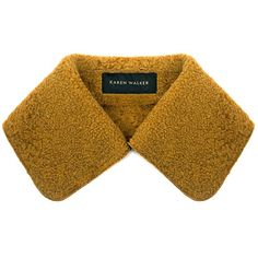 Karen Walker - Astrakhan Slinkskin Detachable Collar ($235) ❤ liked on Polyvore featuring accessories and karen walker