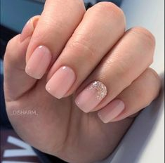 Trendy nails sencillas gelish Ideas Best Picture For nail blue ballerina For Your Taste You are look Cute Acrylic Nails, Cute Nails, My Nails, Glitter Gradient Nails, Natural Acrylic Nails, Gigi Nails, Short Nails Acrylic, Cute Simple Nails, Ombre Nail