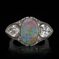 art deco opal and diamond ring opals опалы, др Art Deco Ring, Art Deco Jewelry, Jewelry Design, Jewelry Box, Art Nouveau, Opal Jewelry, Fine Jewelry, Jewellery, Antique Jewelry