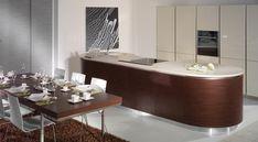 Designová kuchyně ELITE v provedení matná dýha wenge světlé a lak slonová kost, vysoký lesk. Umíme vyrobit jakýkoliv nábytek do vašeho interiéru.