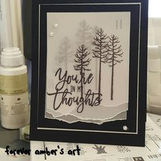 Amber used the Thoughtful Branches  stamp set from Stampin Up! I saved this off of Facebook.