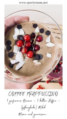 Frappuccino Frappuccino, Dessert, Acai Bowl, Cereal, Breakfast, Food, Frozen Banana, Berries, Healthy Recipes