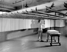 Hanging Sheets in a controlled humidity room