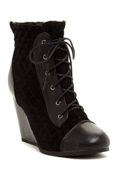 Leuven Alexander Nerine Lace-Up Wedge Bootie by Bucco on @nordstrom_rack