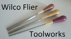 Custom made paring chisels by Wilco Flier