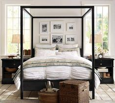 Beds/Headboards - Frances Canopy Bed  - steel canopy bed, industrial canopy bed…