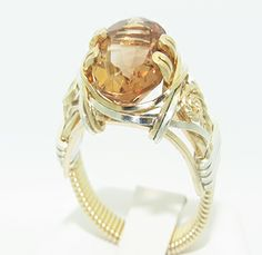 Champagne Topaz Ring from Designs by Terra Jewelry - Size 8.5