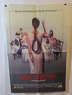 April Fool's Day 1986 Movie Poster Deborah Foreman Amy Steel Deborah Goodrich