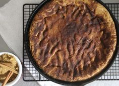 Deep Dish Snickerdoodle Skillet Cookie Recipe by Foodie with Family