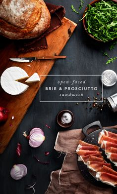 Open- faced Brie & Prosciutto Sandwich #prepandpin