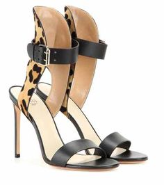 Leather, suede and calf hair sandals Francesco Russo