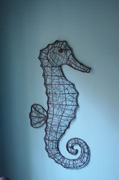 Seahorse Wall Art large but lightweight decorative metal seahorse wall art - £24.95