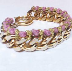 Candy Purple & Gold Bracelet