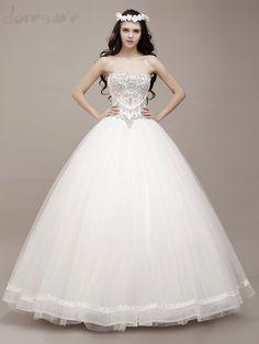Doresuwe.com SUPPLIES 2016 新品 オフショルダー ダイヤモンド飾りの王室貴族 ウェディングドレス 花嫁ドレス ウェディングドレス-2016 (6)