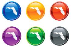Florida state button button royalty free vector art vector art illustration