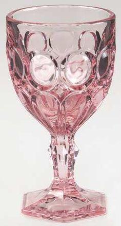 Moonstone pattern in pink by Fostoria, wine glass