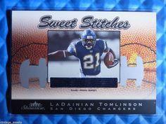 2003 Fleer Showcase LADAINIAN TOMLINSON Sweet Stitches Jersey Patch #SS-LT #/899 #SanDiegoChargers