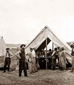Petersburg, Virginia Sutlers tent, 2d Division, 9th Corps. It was taken in 1864.  The picture shows the main eastern theater of war, the siege of Petersburg, June 1864-April 1865.