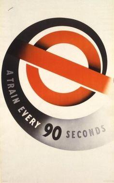 London Underground poster, 1937,  Abram Games