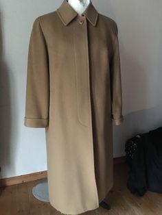 Details zu Wintermantel Kamelhaar Mantel Hensel   Mortensen beige braun 44  46 vintage 5d0133578e