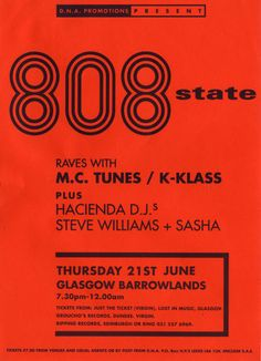 Flyer Goodness: Art of the Factory Records family - The Hacienda, Peter Saville, Joy Division, New Order Steve Williams, Factory Records, Peter Saville, Web Design, Design Art, Music Flyer, Acid House, Concert Posters, Event Posters