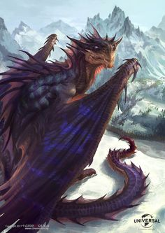 """quarkmaster: """"  Dragonheart: Dragon Paintings - Cinemotion - Universal More pieces that I did during my period at Cinemotion on the new Dragonheart movie. I had the privilege to work there with great..."""