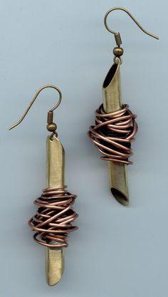 www.gallerysanivia.com  Handmade jewellery  Kolczyki wyroby z mosiądzu i miedzi rękodzieło artystyczne