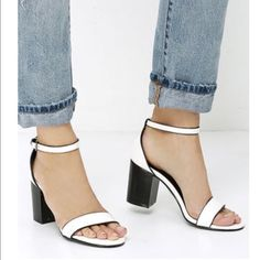 White sandals straps. White sandals straps. Dress up your every day Jean with this sandal. Forever 21 Shoes Sandals
