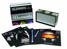 The Photographic Card Deck of The Elements is the most detailed, lush, and beautiful set of cards ever produced on the subject of the periodic table.  http://www.amazon.com/The-Photographic-Card-Deck-Elements/dp/1603761985/ref=sr_1_101?m=A3030B7KEKNTF7&s=merchant-items&ie=UTF8&qid=1394834234&sr=1-101&keywords=design