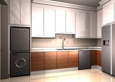 Combined laundry and scullery
