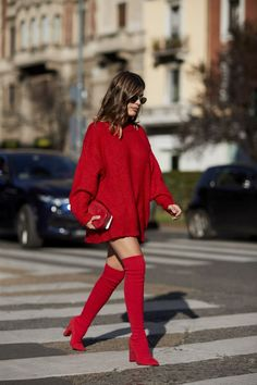 Street Style // Pretty in red